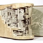 Narrative Sculptures by Brian Dettmer from old books