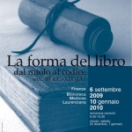 Riapre la mostra &quot;La forma del libro&quot;