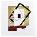 Giulio Paolini, Senza titolo, 2012, collage su carta, cm 33,5x33,5 (Galleria Studio G7)